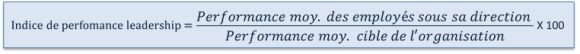 Indice de perfromance du leadership