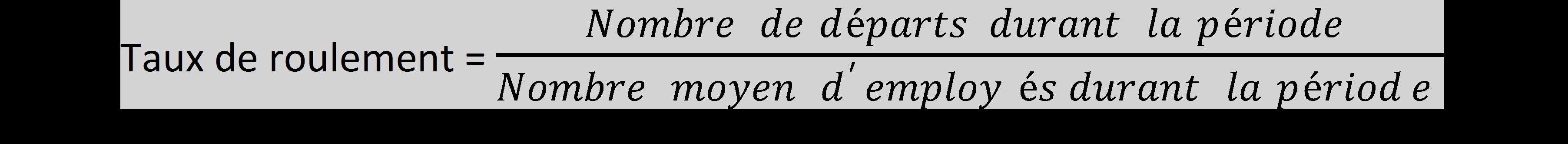 formule roulement
